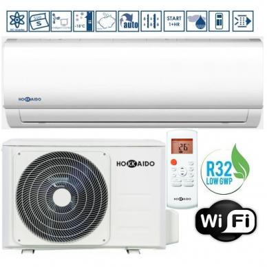 Oro kondicionierius-šilumos siurblys HOKKAIDO MONOSPLIT R32 Šaldymas 7,03 KW / Šildymas 7,33 KW