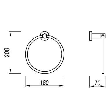 Ovalus rankšluosčių laikiklis Omnires Modern 2