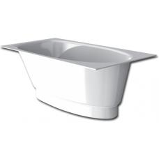 Akmens masės vonia PAA Uno 150x75 cm