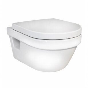 Klozetas Gustavsberg Hygienic Flush rimless ir soft close dangtis