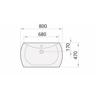 PAA akmens masės praustuvas Bel Canto 800x470 mm 4