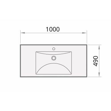 Akmens masės praustuvas PAA Long Step 1000x490 mm 6