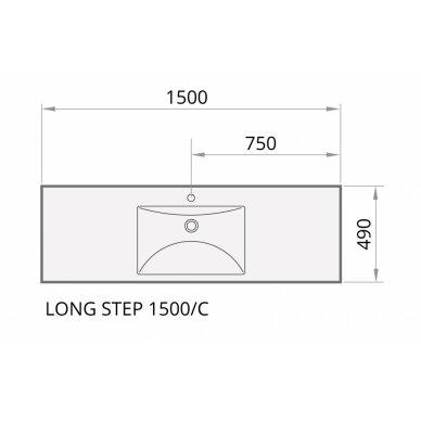 Akmens masės praustuvas PAA Long Step 1500x490 mm 9