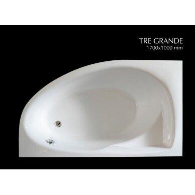 Akmens masės vonia PAA Tre Grande 170 cm 4