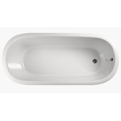Akmens masės vonia PAA Vario Round 166x75 cm 4