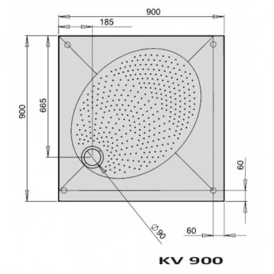 Dušo padėklas PAA ART KV 80, 90, 100 cm 3