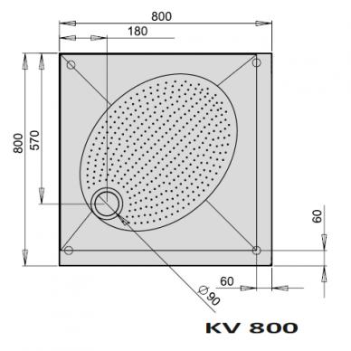Dušo padėklas PAA ART KV 80, 90, 100 cm 2