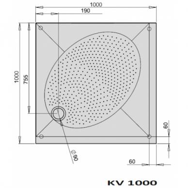 Dušo padėklas PAA ART KV 80, 90, 100 cm 4