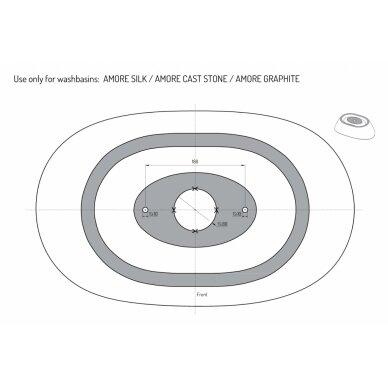 Praustuvas PAA Graphite Amore 600x370 mm 5