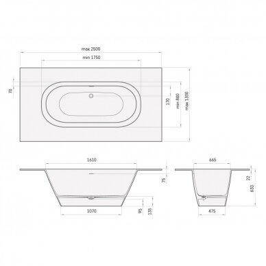 Vonia PAA SilkStone Deco Shape 175-180x80-85 cm 5