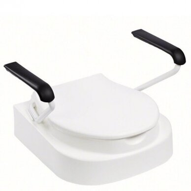 Paaukštinta tualeto sėdynė su porankiais