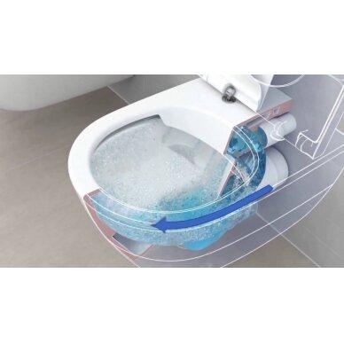 Klozetas Gustavsberg Hygienic Flush rimless ir soft close dangtis 4