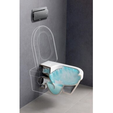 Klozetas Gustavsberg Hygienic Flush rimless ir soft close dangtis 5