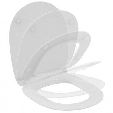 Pakabinamas unitazas Ideal Standard Connect su soft close dangčiu 5