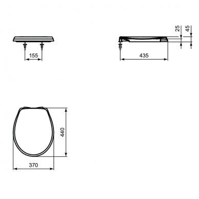 Pakabinamas unitazas Ideal Standard Eurovitsu Soft Close dangčiu 6