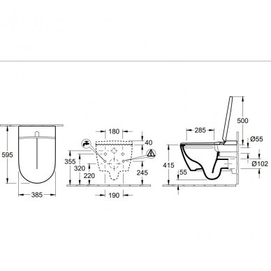 Unitazas su elektronine bidė funkcija Villeroy & Boch ViClean I-110 4