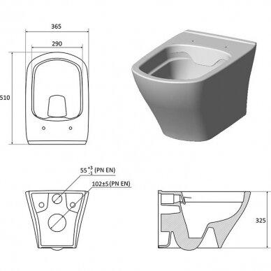 Pakabinamas WC puodas Ravak Classic RimOff 2