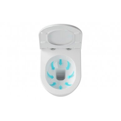 Pakabinamas WC puodas Ravak Uni Chrome Rim 2