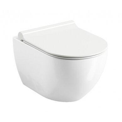 Pakabinamas WC puodas Ravak Uni Chrome RimOff