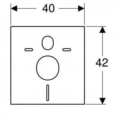 Pakabinamiems WC ir bidė garso izoliacinė tarpinė Geberit 4