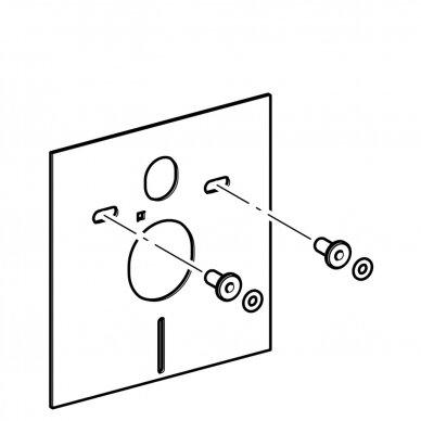 Pakabinamiems WC ir bidė garso izoliacinė tarpinė Geberit 3