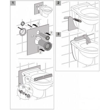 Pakabinamiems WC ir bidė garso izoliacinė tarpinė Geberit 2