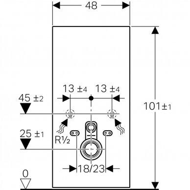 Pakabinamo WC modulis Geberit Monolith, 101 cm (įv. spalvų) 6