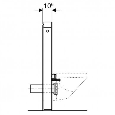 Pakabinamo WC modulis Geberit Monolith, 101 cm 7