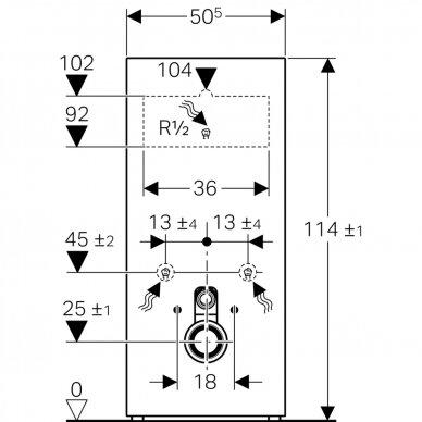 Pakabinamo WC modulis Geberit Monolith, 114 cm (įv. spalvų) 6