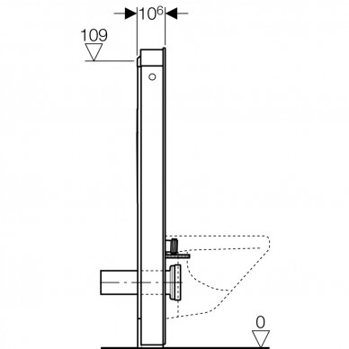 Pakabinamo WC modulis Geberit Monolith, 114 cm 6