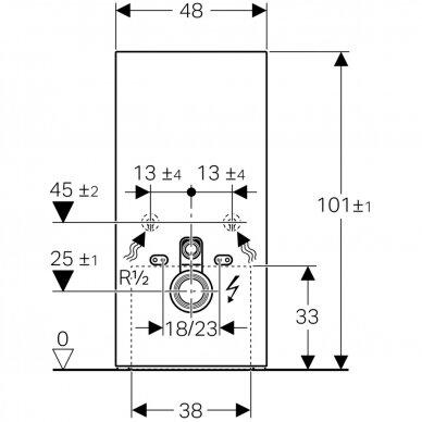 Pakabinamo WC modulis Geberit Monolith Plus, 101 cm (įv. spalvų) 6