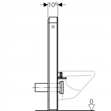 Pakabinamo WC modulis Geberit Monolith Plus, 101 cm 6