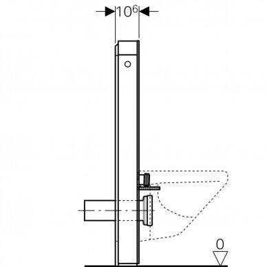 Pakabinamo WC modulis Geberit Monolith Plus, 101 cm (įv. spalvų) 7