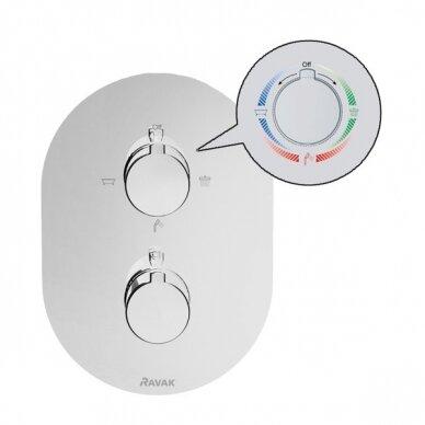Paslėpto montavimo termostatinis maišytuvas Ravak Chrome 3