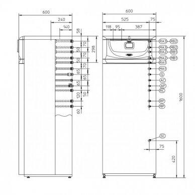 Pastatomas dujinis katilas HERCULES CONDENSING 26kW 3 ErP su 120l vandens kaupikliu, IMMERGAS 3