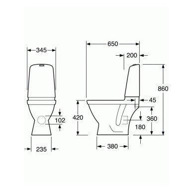 Pastatomas Gustavsberg Nautic Hygienic Flush su dangčiu 3