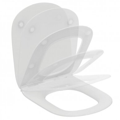 Pastatomas klozetas su bakeliu ir dangčiu Ideal Standard Tesi Aquablade 6