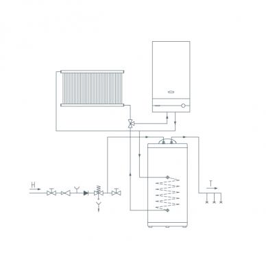 Pastatomas vandens šildytuvas Gorenje GV 100 3