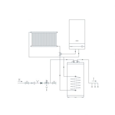 Pastatomas vandens šildytuvas Gorenje GV 120 3