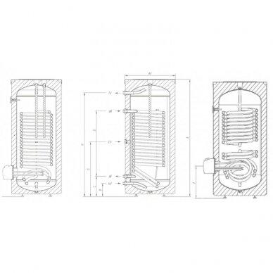 Pastatomas vandens šildytuvas Gorenje VLG300B2-1G3 2