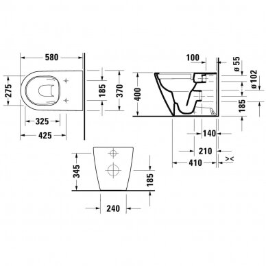 Pastatomas WC puodas Duravit D-Neo 6
