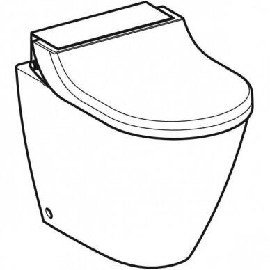 Pastatomas WC puodas ir išmanusis dangtis Geberit AquaClean Tuma Classic 2