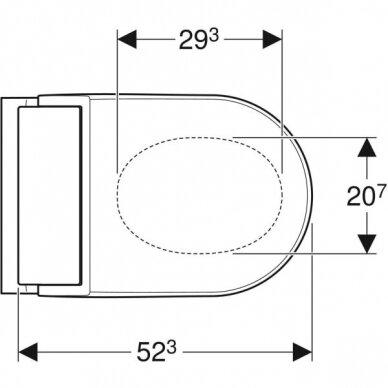 Pastatomas WC puodas ir išmanusis dangtis Geberit AquaClean Tuma Classic 3