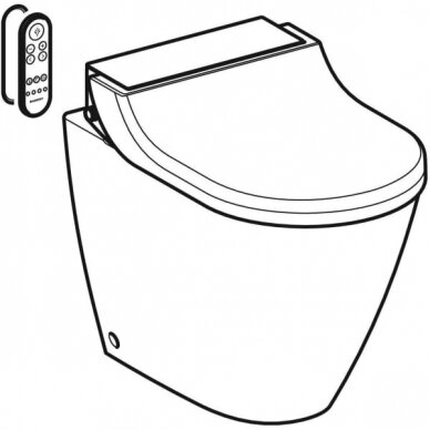Pastatomas WC puodas ir išmanusis dangtis Geberit AquaClean Tuma Comfort 3