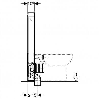 Pastatomo WC modulis Geberit Monolith, 101 cm 6