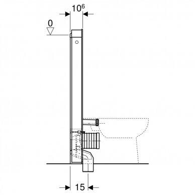 Pastatomo WC modulis Geberit Monolith, 114 cm 6
