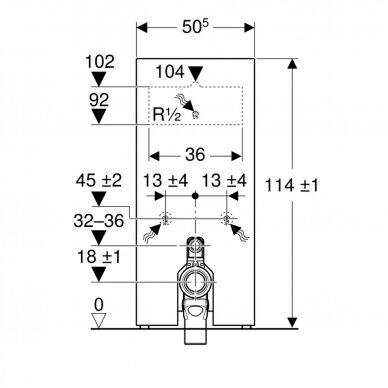 Pastatomo WC modulis Geberit Monolith, 114 cm 5