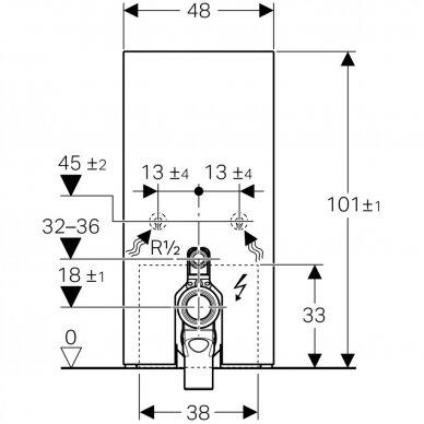 Pastatomo WC modulis Geberit Monolith Plus, 101 cm 6