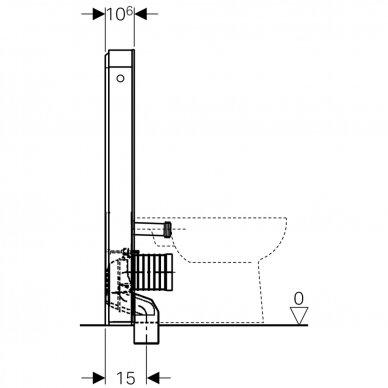 Pastatomo WC modulis Geberit Monolith Plus, 101 cm 7