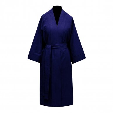 Perkelio medvilnės chalatas DecoFlux Kimono Royal Cobalt 2